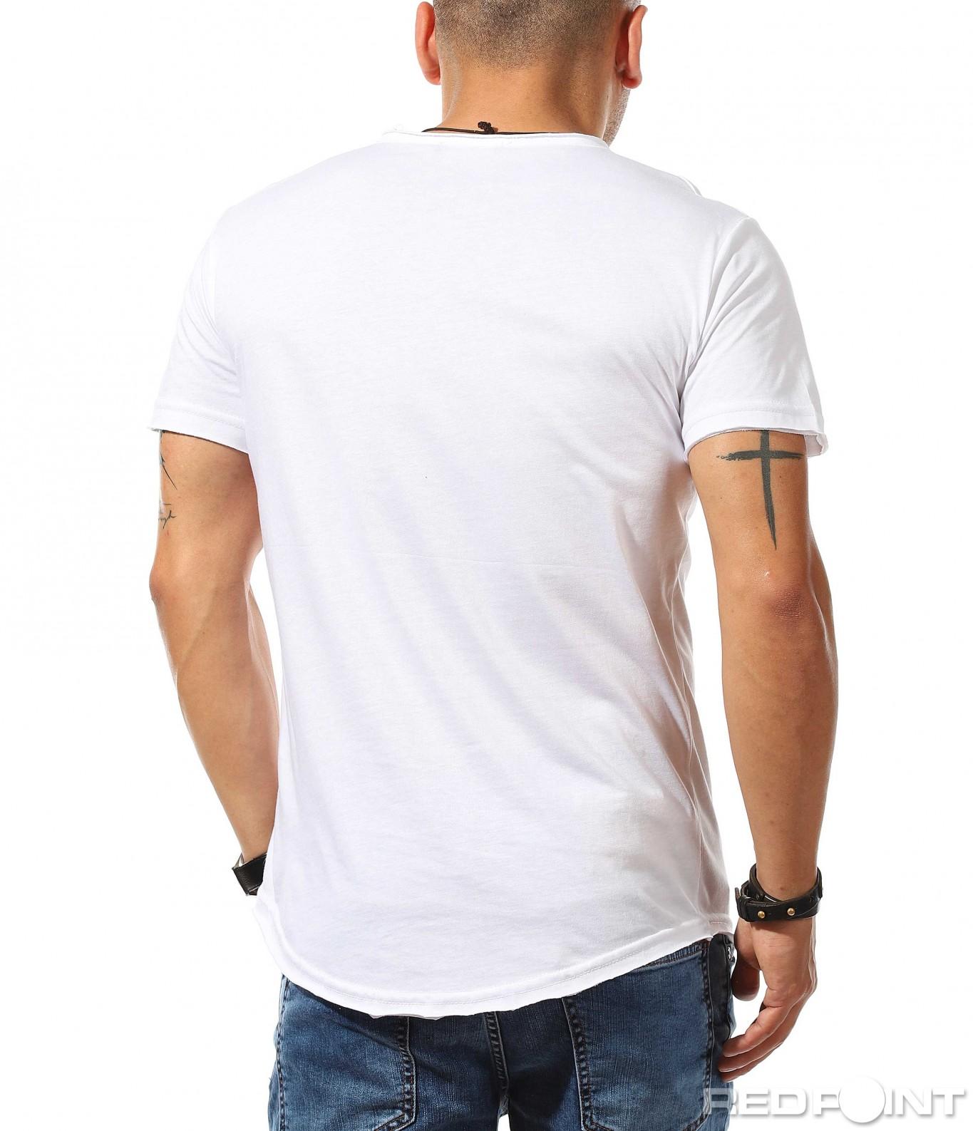 f1d31365cc8 Тениска с дълбоко деколте и копчета 9906 - Red Point Варна