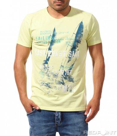 Лятна свежа тениска с акцент 9930
