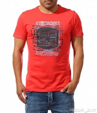 Цветна тениска с надписи за акцент 9931