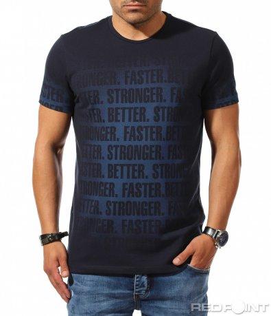 Тениска с преливащ надпис 9933