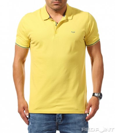 Ярко жълта поло тениска 9935