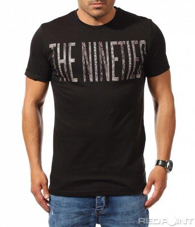 Тениска с открояващ се надпис 9917
