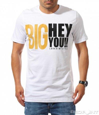 Свежа тениска с голям надпис 9936