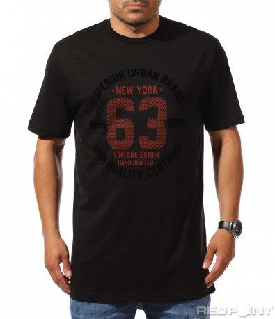 Издължена тениска с щампа 9937