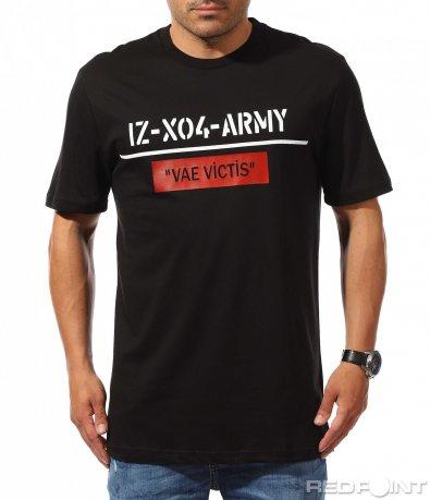 Ежедневна черна тениска с надпис 9938