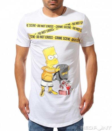 Longfit тениска с апликация 9911