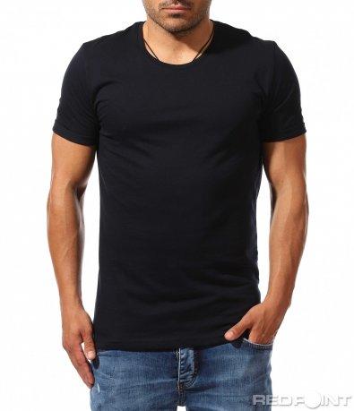 Класическа тениска в едноцветен десен 9915
