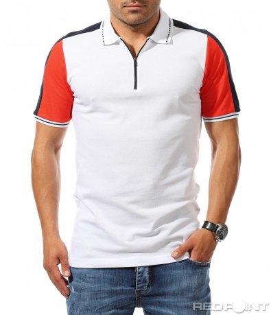 Ексцентричен модел тениска с яка 9919