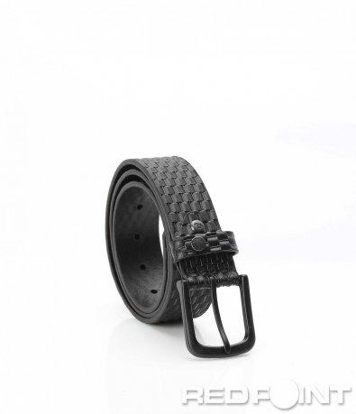 Черен колан с ефектна основа 9955