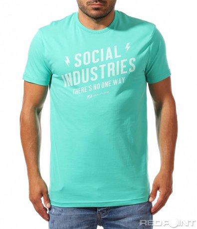 Памучна лятна тениска с надпис 9964