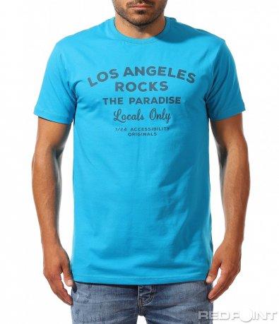 Класическа тениска с надписи 9959
