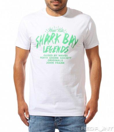Стилна тениска с разчупен надпис 9965