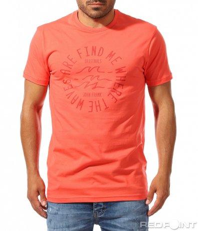 Модерна тениска с апликация 9962