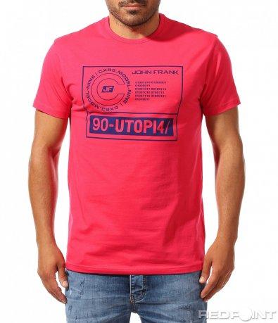 Ежедневна тениска с надписи 9966