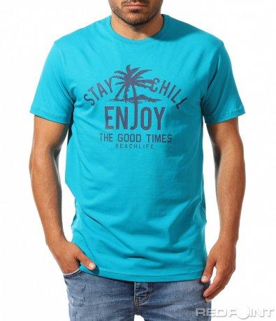 Свежа тениска с надпис Enjoy 9961