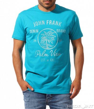 Семпла тениска с лятна щампа 9963