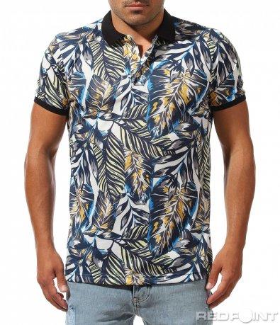 Щура polo тениска с принт 9983
