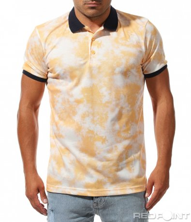 Поло тениска с десен 9985