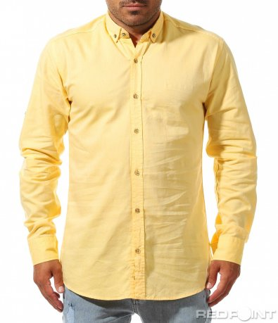 Жълта еднотонна риза 9987