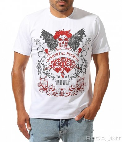 Тениска с контрастираща апликация 10009