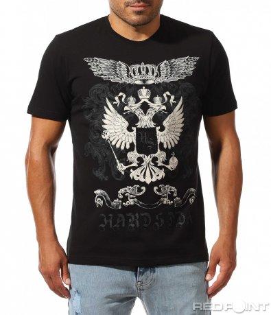 Ефектно щампирана тениска 10010