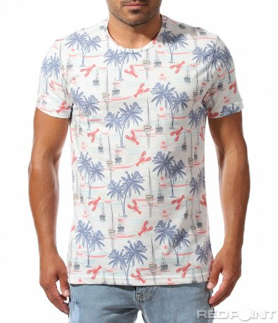 Лятна тениска с морски мотиви 10013