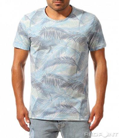 Лятна свежа тениска с принт 10014