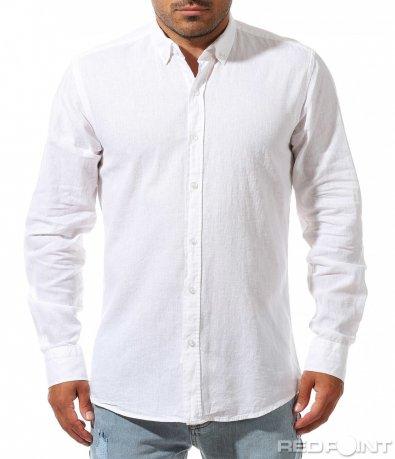 Класическаа бяла риза 10018