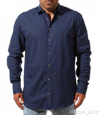 Елегантна риза с принт 10021
