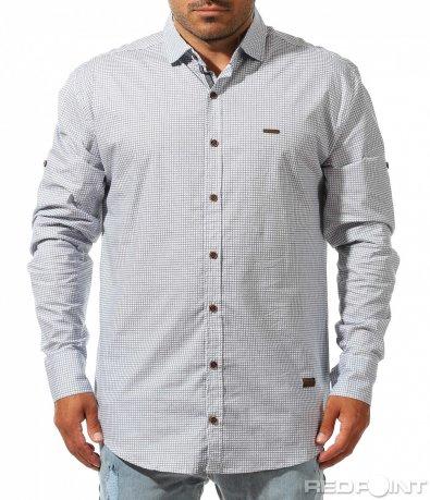Ефектна риза с дребно каре 10022