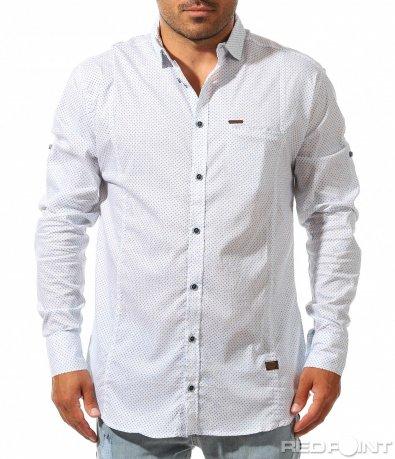 Спортно елегантна риза с орнаменти 10023