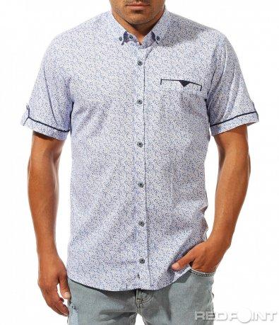 Спортно елегантна риза с къс ръкав 10026
