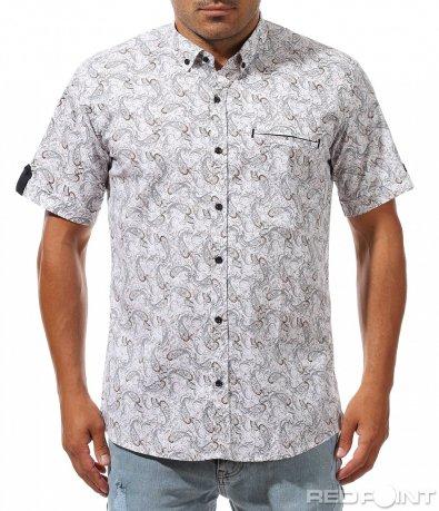 Свежа риза с къс ръкав 10027