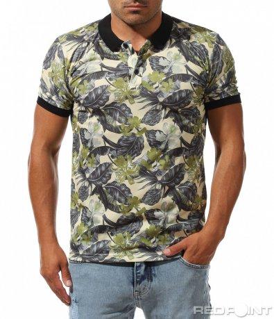 Лятна тениска с цветен десен 10032