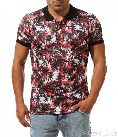 Впечатляваща тениска с летен принт 10035