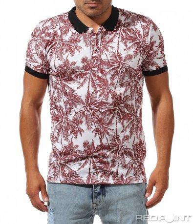 Summer поло тениска с палми 10033