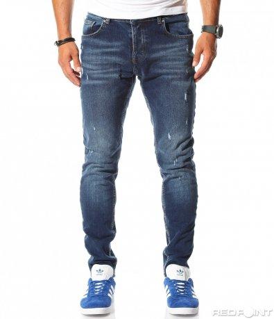 Дънки в стандартен син цвят 10043