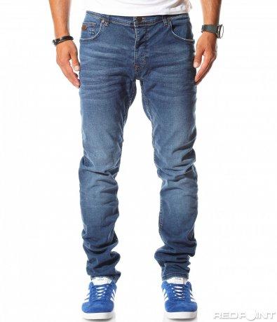 Ефектни дълги дънки в син цвят 10044
