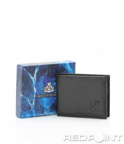 Семпло портмоне в черен цвят 10099