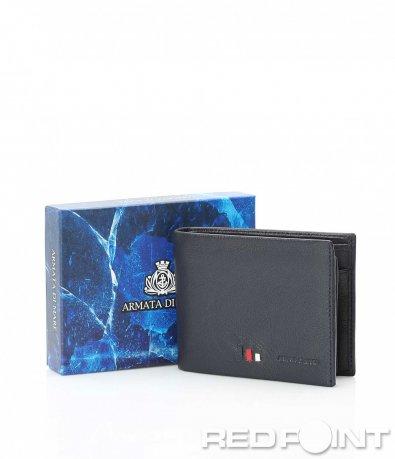 Стилен портфейл с цветен детайл 10096