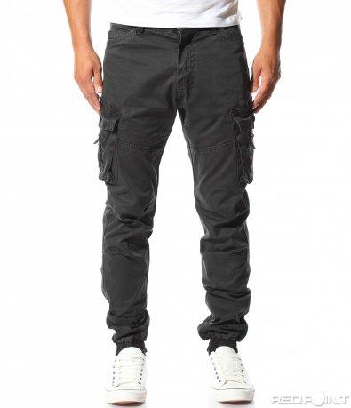Черен панталон с джобове 10086