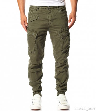 Карго панталон в зелен цвят 10084