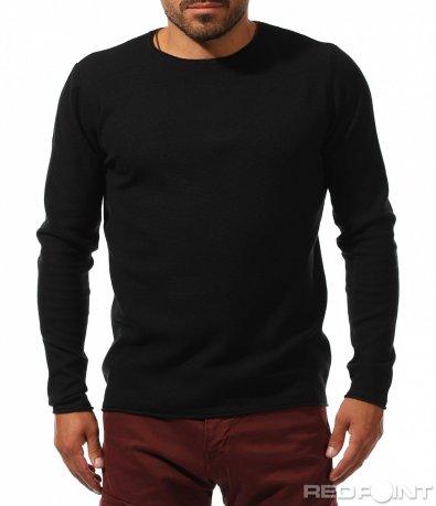 Блуза тип пуловер в изчистен десен 10119