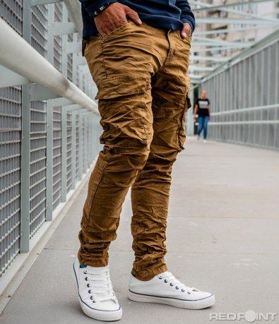 Втален карго панталон с ефект 10133
