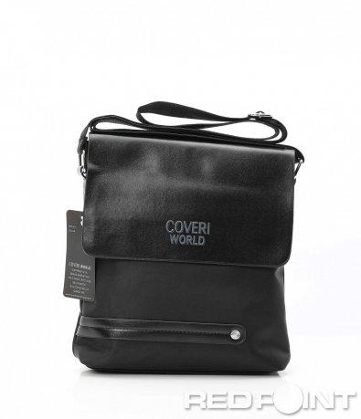Ефектна чанта с елементи от еко кожа 10147