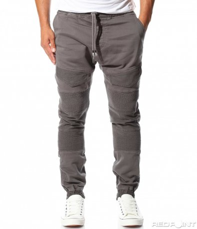 Памучен панталон с наребрен мотив 10163