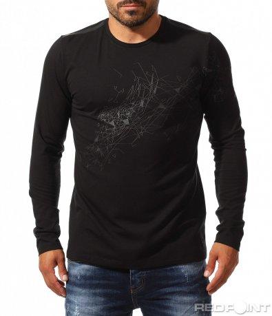 Черна клубна блуза 10167