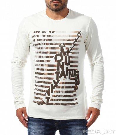 Ефектна блуза с надписи 10170