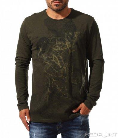 Есенна блуза с щампа 10172