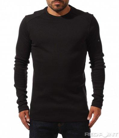 Едноцветна памучна блуза 10196